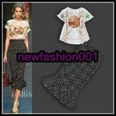 Dolce and Gabbana 2014 Summer 2014, Spring Summer, Skirt Suit, Silk Top, Ballet Skirt, Suits, Tops, Women, Fashion