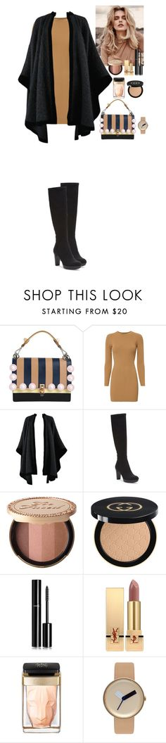 """""""Outfit"""" by eliza-redkina ❤ liked on Polyvore featuring Fendi, A.L.C., Yves Saint Laurent, Donald J Pliner, Too Faced Cosmetics, Gucci, Chanel, Cartier, Nomad and StreetStyle"""