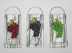 Fused Glass Pocket Vases