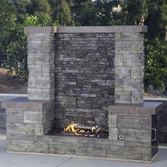 Bull Acqua Firewall - Outdoor Gas Fireplace & Waterfall | WoodlandDirect.com: Outdoor Fireplaces: Fireplace Units - Gas, Bull Outdoor Products