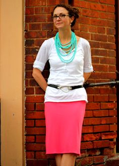 Mandy Made: Pink Pencil Skirt: A Fast Refashion