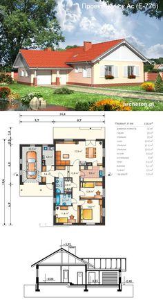 Проекты домов под ключ Dream Home Design, House Design, House Plans, Sweet Home, Floor Plans, Cottage, How To Plan, Mansions, House Styles