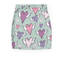 Romantic hearts with wings  Pencil Skirt