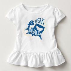 Dory & Destiny | I Speak Whale. Baby, bebé. Producto disponible en tienda Zazzle. Vestuario, moda. Product available in Zazzle store. Fashion wardrobe. Regalos, Gifts. Link to product: http://www.zazzle.com/dory_destiny_i_speak_whale_t_shirt-235888704162750979?CMPN=shareicon&lang=en&social=true&rf=238167879144476949 #camiseta #tshirt