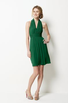 Watters 9558 Bridesmaid Dress in emerald green| Weddington Way $244