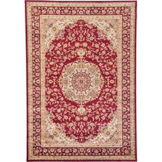 Unique Loom Fort Myer Isfahan Rug Red