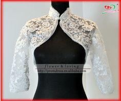 high quality wholesale & custom made real lace sleeve high neck bridal jacket wedding bolero Wedding Dress Bolero, Wedding Jacket, Divas, Lace Jacket, Kimono, Coat Dress, Lace Sleeves, Business Fashion, Blouse Designs