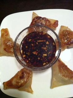 photo of Chicken and Shrimp Dumplings with Soy Dipping Sauce