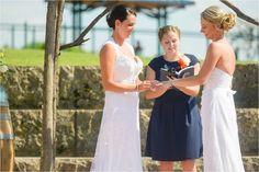 Same Sex Two Bride Wedding - Stone Cliff Winery Dubuque Iowa, Two Brides, Wedding Bride, How To Memorize Things, Weddings, Women, Women's, Wedding, The Bride