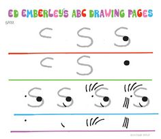 Welcome summer fun with fish, mermaids and some landlubbers too. Take a break from the heat, and get creative with Ed Emberley's FREE drawi. Ed Emberley, Welcome Summer, Thing 1, Drawing For Kids, Drawing Ideas, Too Cool For School, Art School, School Ideas, Colorful Drawings