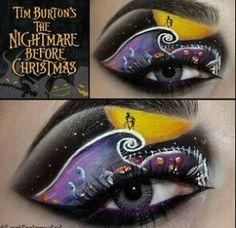 The Nightmare Before Christmas dramatic eye makeup