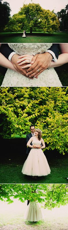 couple, tree, park, green, detail