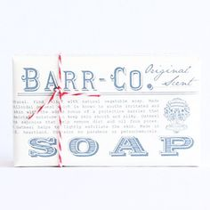 Classic bar soap in 6 fantastic scents from Barr-Co. Each bar is paraben-free and petrochemical-free. Made with olive oil and shea butter.  Original Scent: Ground oatmeal soothes and lightly exfoliates skin while maintaining moisture.  Blood Orange Amber: Blood orange and amber combine forming a fresh, earthy scent.  Marine: Light and fresh sea air scent.   Watercress Mint: Combines the refreshing essences of mint, tea, and honey.  Honeysuckle: Sweet scent of honeysuckle nectar with floral…