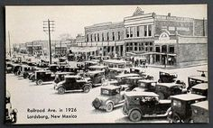 Lordsburg NM Railroad Ave in 1926 Many Old Cars L.L. Cook Co postcard