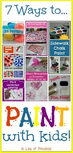 7 Ways to Paint with Kids