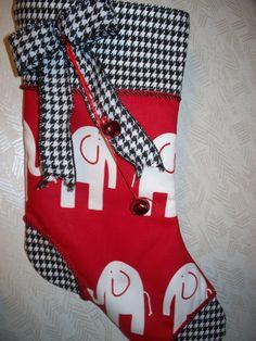 Alabama Crimson Tide Houndstooth Christmas by jordansdesigns1, $25.00