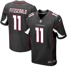 Men Nike Arizona Cardinals #11 Larry Fitzgerald Elite Black Alternate NFL Jersey Sale