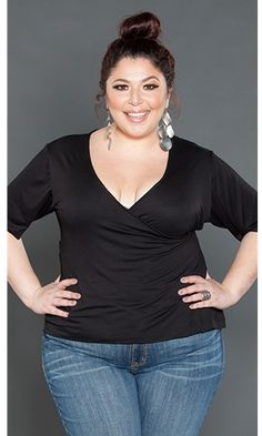 Plus Size Wrap Top ~ Plus Size Clothing ~ Curvy Fashion at www.curvaliciousclothes.com