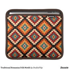 Traditional Romanian Folk Motifs Sleeve For iPads