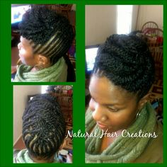 Twist style updo natural hair
