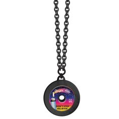 Old Fashioned Record Necklace--Dont Stop Believin