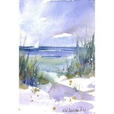 Watercolor Beach Painting Small Seascape Giclee Sand Dune and Sail Boat Caribbean Art Whimsical Beach Cottage Art Nautical Art Small Paintings, Landscape Paintings, Watercolor Paintings, Beach Paintings, Watercolor Trees, Gouache Painting, Indian Paintings, Watercolor Portraits, Abstract Paintings