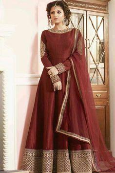 2a1bcf047e05 Bollywood Style Dress, Indian Anarkali, Anarkali Dress, Silk Anarkali Suits,  Long Anarkali