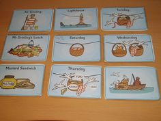 Lighthouse keeper's lunch sequence cards