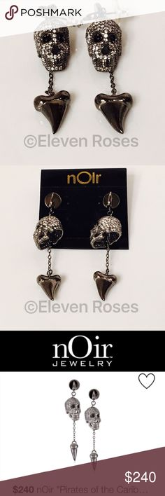 nOir Pirates Of The Caribbean Skull Earrings nOir Pirates Of The Caribbean Skull & Tooth Dangle Earrings - New, On Card nOir Jewelry Jewelry Earrings