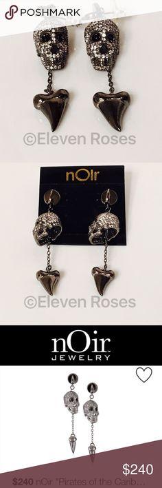nOir Pirates Of The Caribbean Skull Earrings nOir Pirates Of The Caribbean Skull & Tooth Dangle Earrings - New, On Card nOir Jewelry Jewelry Earrings