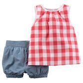 With a pretty printed tank over bubble shorts, this cute outfit combines style with ease in one convenient 2-piece set.