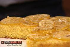 Bolo de fubá com limão siciliano, por Lucas Corazza. http://www.bemsimples.com/br/receitas/77541-bolo-de-fuba-com-limao-siciliano