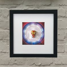 Marvel Comics Inspired Iron Man 3-D Effect Box Framed Wall Art