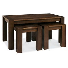 Debenhams Walnut 'Lyon' nest of coffee and side tables | Debenhams
