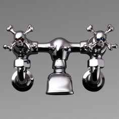 Skull Crossbone Taps Faucets For The Kitchen And Bathroom By Uk Rock Gothic Kitchens Bathrooms Designer Stephen Einhorn London