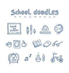 School doodles vector by stolenpencil on VectorStock®