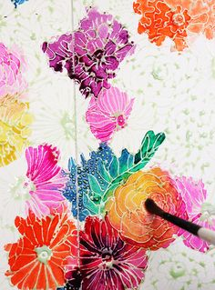 how to use a masking fluid pen and watercolors from Alisa Burke