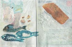 magazine sketchbook spread