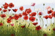 Mountain Poppies III painting takes 14 -16days for production by an artist, and another 3 -5days for delivery.