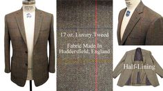 Actual customer's tweed sport coat. Made with patch pockets and half-lining construction.