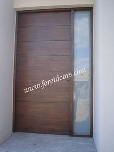 Modern door with sidelight