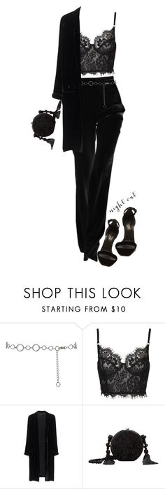 """""""Night out"""" by yagmur ❤ liked on Polyvore featuring M&Co, Jadicted, MANGO and Yves Saint Laurent"""