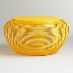 One of my favorite discoveries at WorldMarket.com: Yellow Carilo Coffee Table