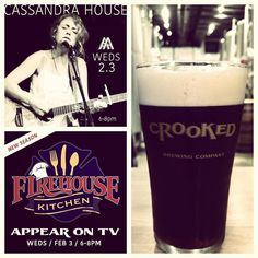 So it's raining ...but there's a lot going on at CLB today!  Long Island singer/songwriter @cassandra_house will be performing in the tasting room at 6pm!  We will be filming tonight's shenanigans for TV's Firehouse Kitchen so come down and visit us! #ThinkCrooked #DrinkCrooked #HumpDayIsForIPAs #LiveMusicWeds by crookedladderbrewing