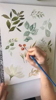 Watercolor painting of florals and berries  watercolor art | watercolor | watercolor paintings | watercolor flowers | art girl | surface pattern design | clip art