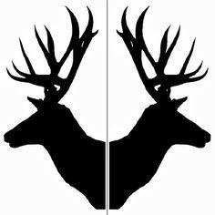 Deer Head Silhouette4 500x500 Outline