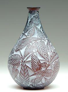 """R. LALIQUE Vase, """"Sauge"""