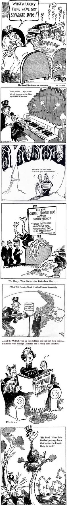 Seuss used to draw political cartoons as well Dr. Suess used to draw political cartoons as wellDr. Suess used to draw political cartoons as well Teaching Us History, Teaching Social Studies, History Teachers, History Classroom, Ap World History, History Facts, American History, History Photos, History Essay