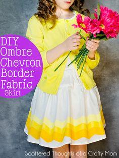DIY Ombre Chevron Skirt