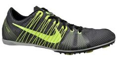 New NIKE Zoom Victory 2 Mens Track Spikes Mid Distance - Black/Yellow - $120msrp